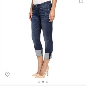Hudson Ginny crop straight with cuff 31 jeans